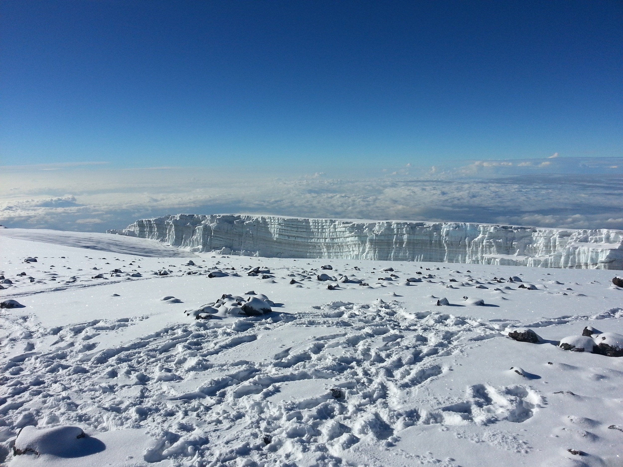 Glacier on Kilimanjaro, Africa – 19,340' (5896m)