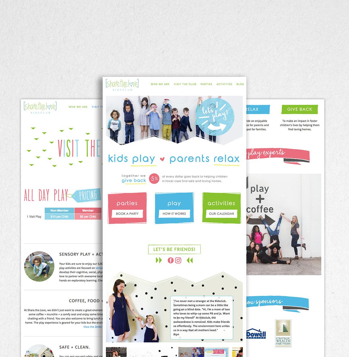 Silverlake Web Design - Share the Love Home Page