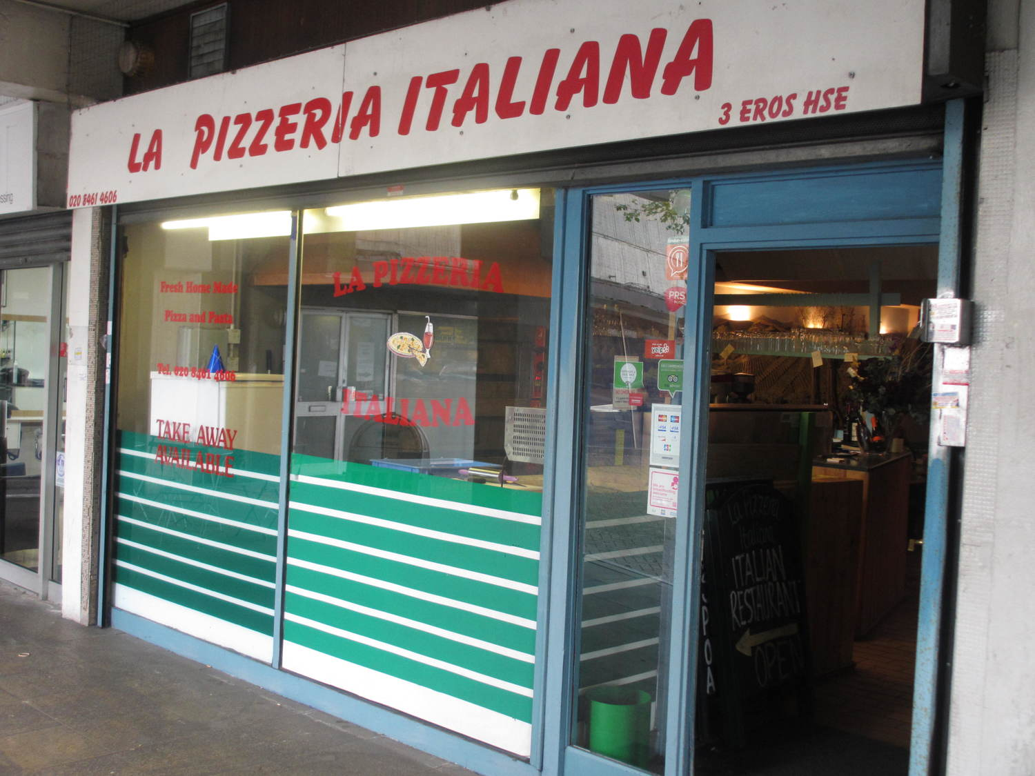 La Pizzeria Italiana In Catford South London Club.