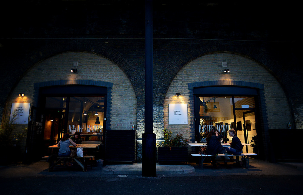 Buster Mantis in Deptford South London Club Card.