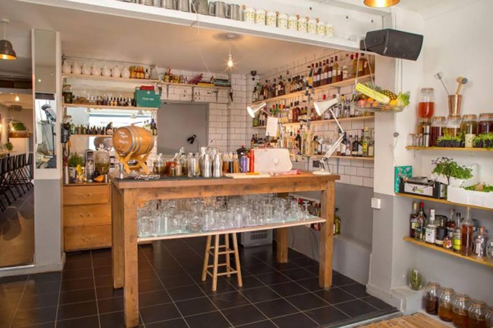 The Shrub & Shutter Cocktail Bar and Restaurant in Brixton South London Club