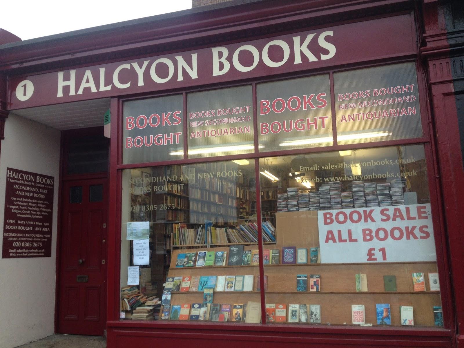 Halcyon Books, Greenwich.