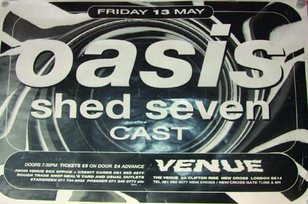 Oasis at The Venue South London Club Card
