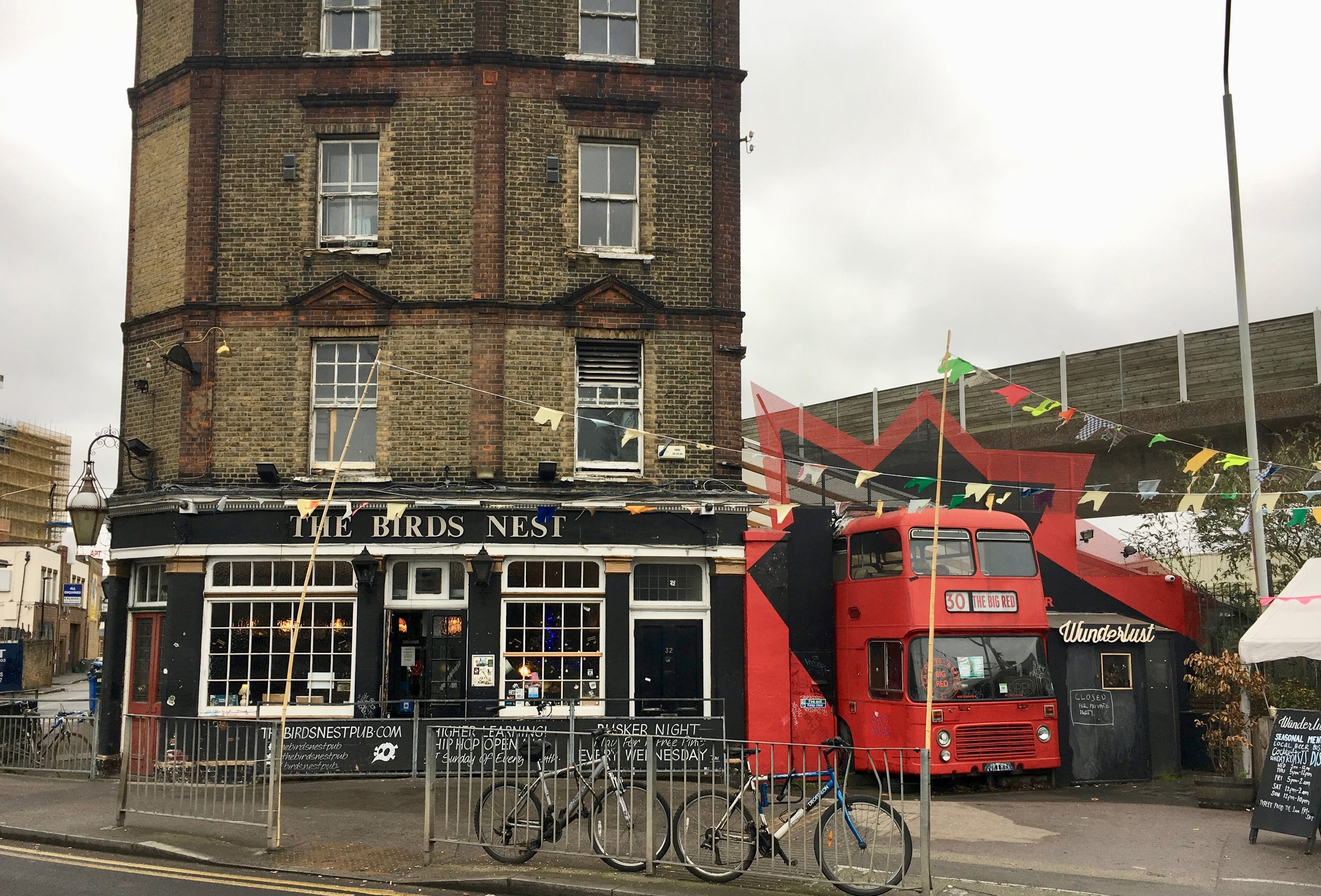 The Birds Nest Pub in Deptford South London Club Card