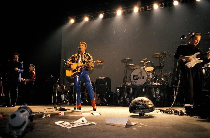 David Bowie performing at Brixton Photograph: Mick Hutson/Redferns