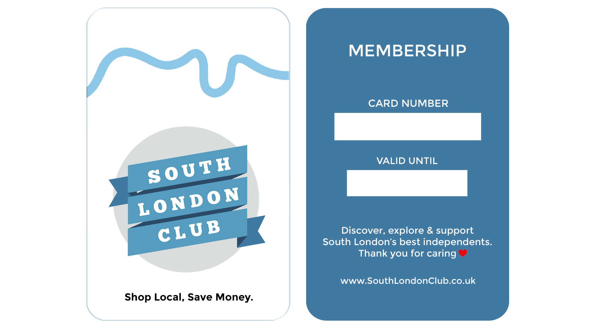 South London Club Card Front And Back