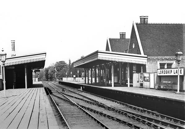 The old Lordship Lane train station