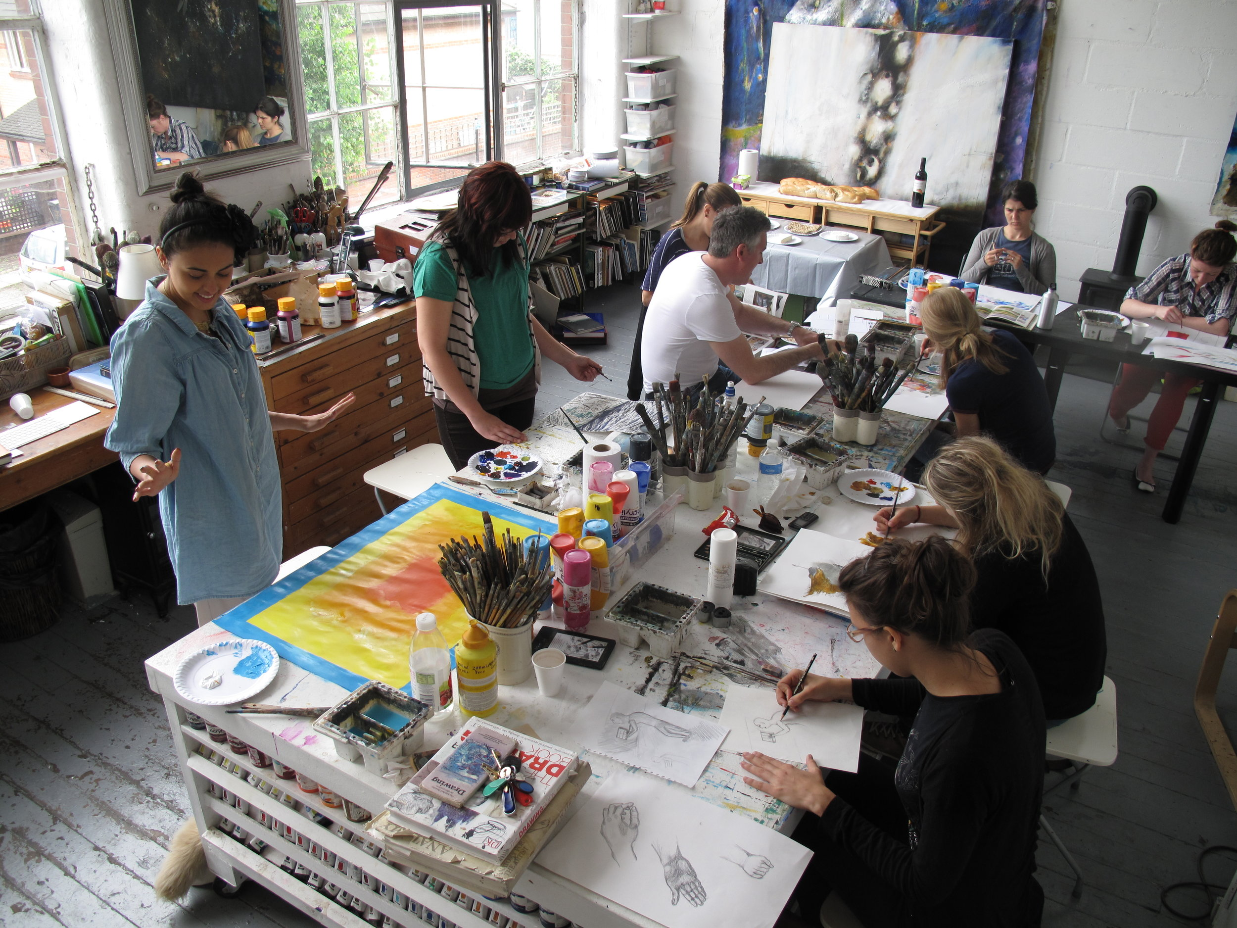 Art Classes London  Drawing and Painting Lessons in Studio 11.JPG