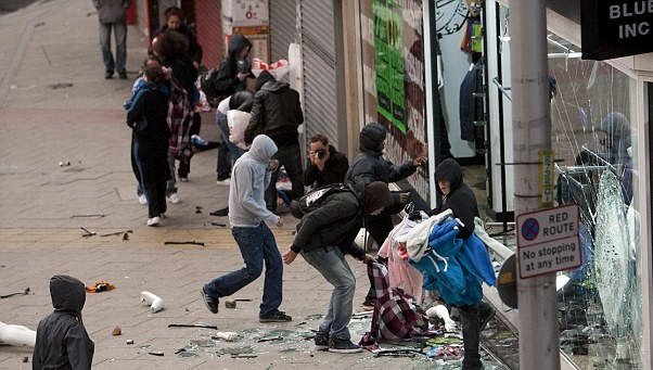 Peckham during the 2011 Riots