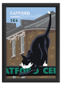 Our Catford Cat Print is  available to purchase !