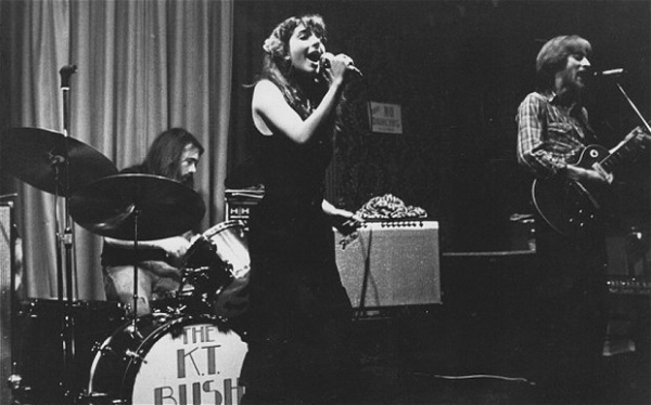 Kate Bush performing at the then Rose of Lee Pub, Lewisham in 1977