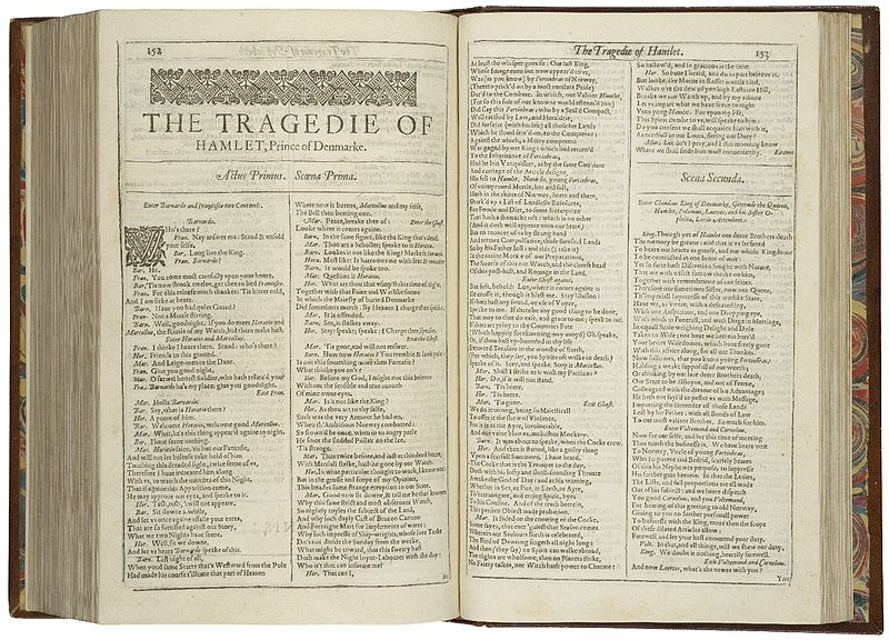 The First Folio, printed 1623
