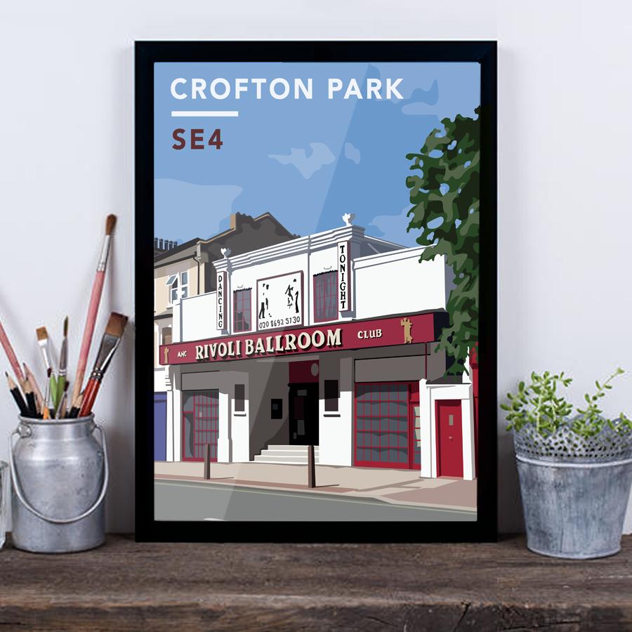 Crofton Park Rivoli Ballroom SE4 - Giclée Art Print -