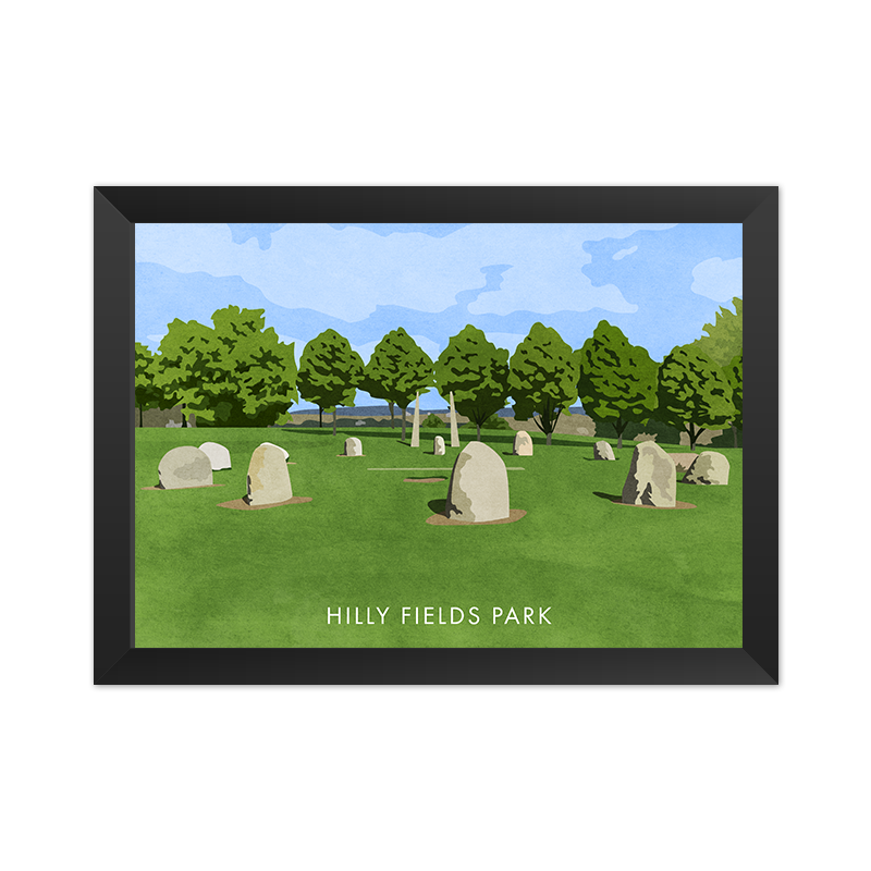 Hilly Fields Park - Giclée Art Print -