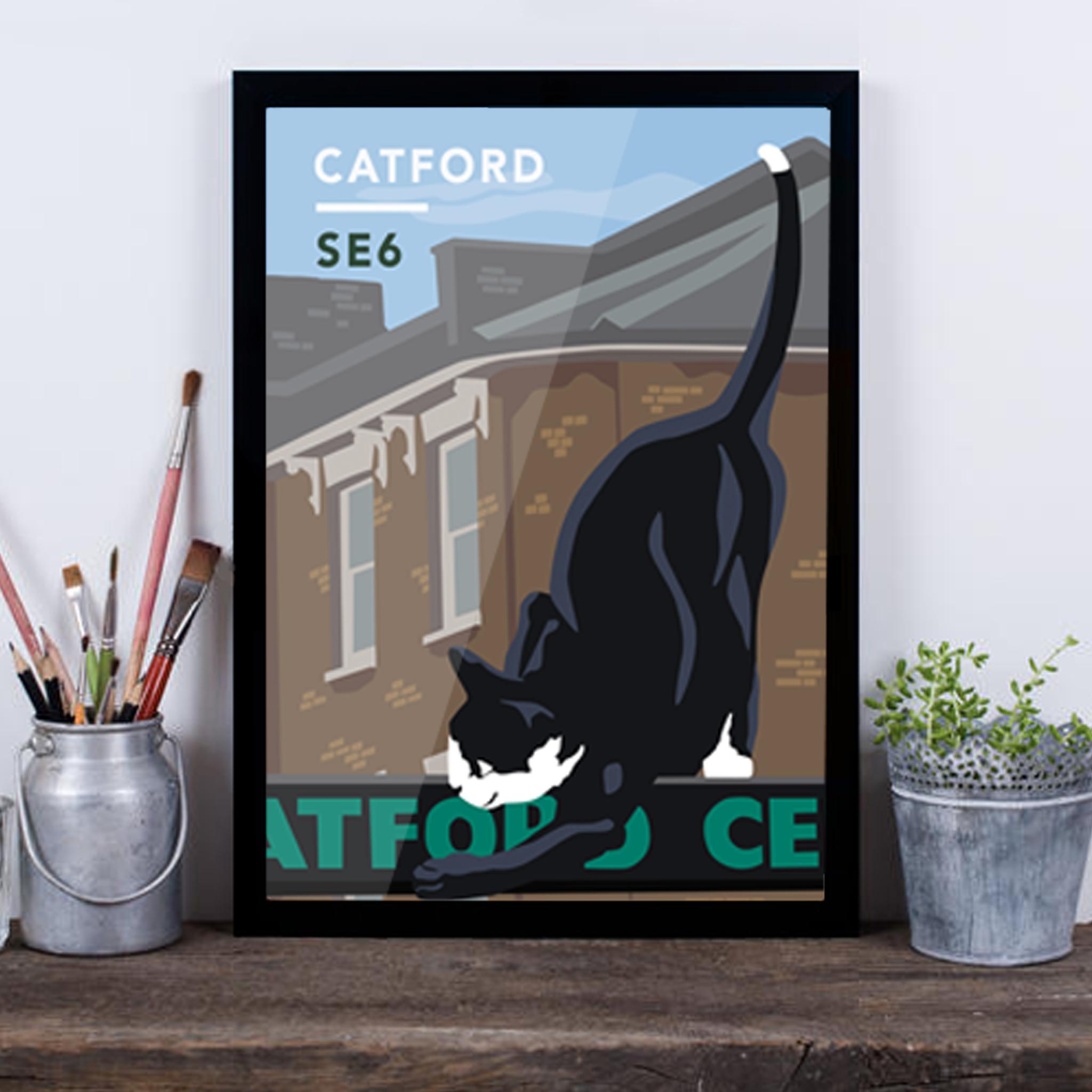 Catford Cat SE6 - Giclée Art Print -