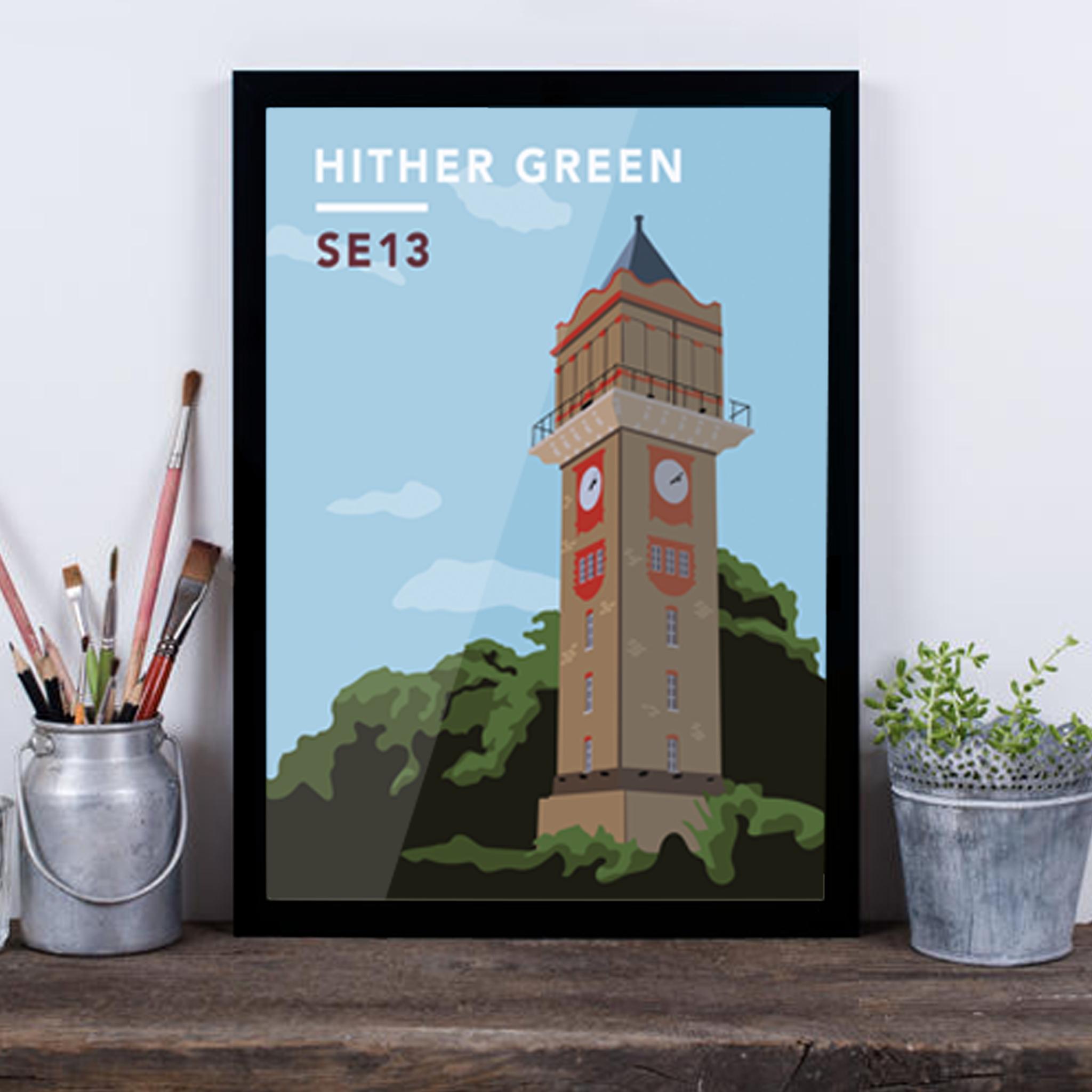 Hither Green Water Tower SE13 - Giclée Art Print -