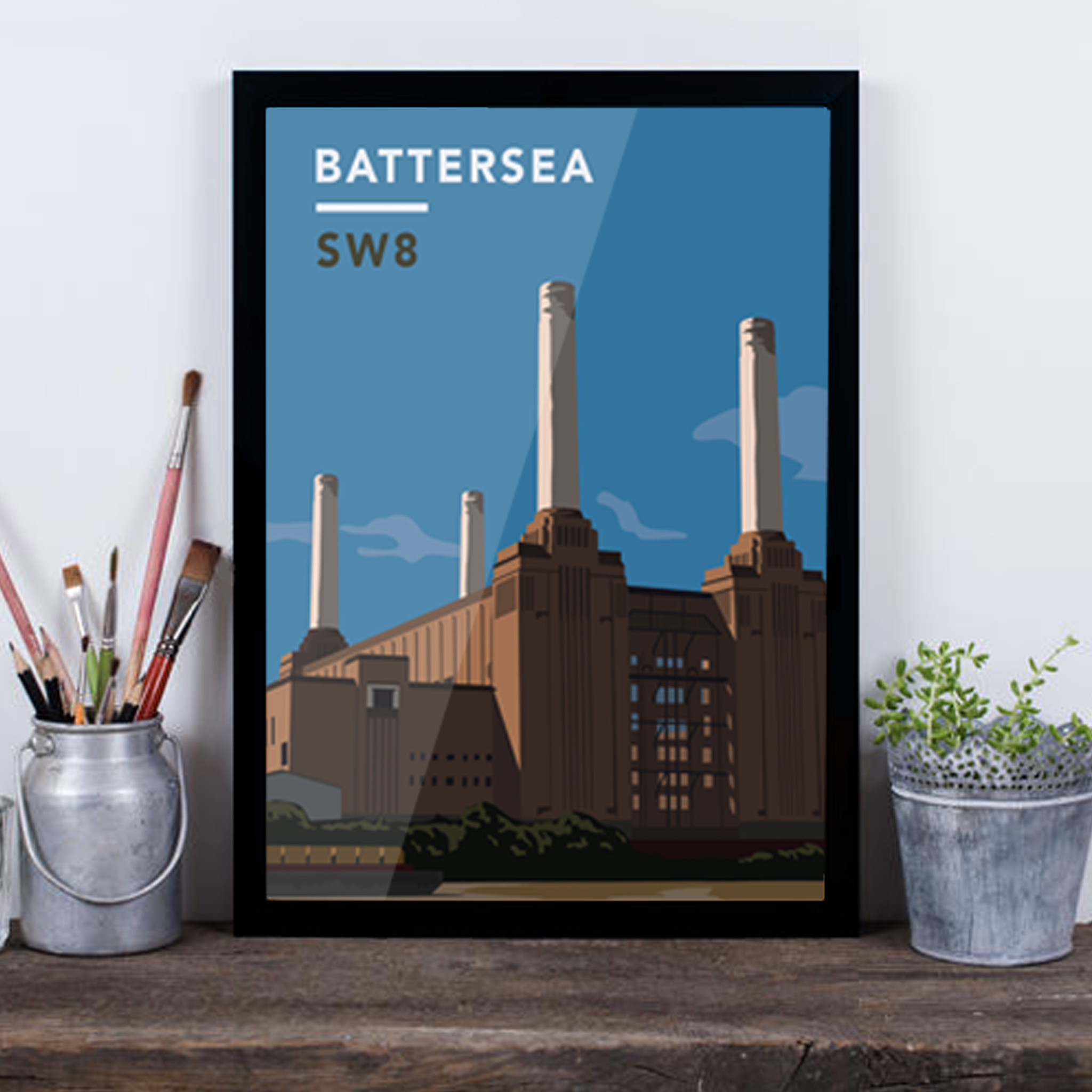 Battersea Power Station SW8 - Giclée Art Print -