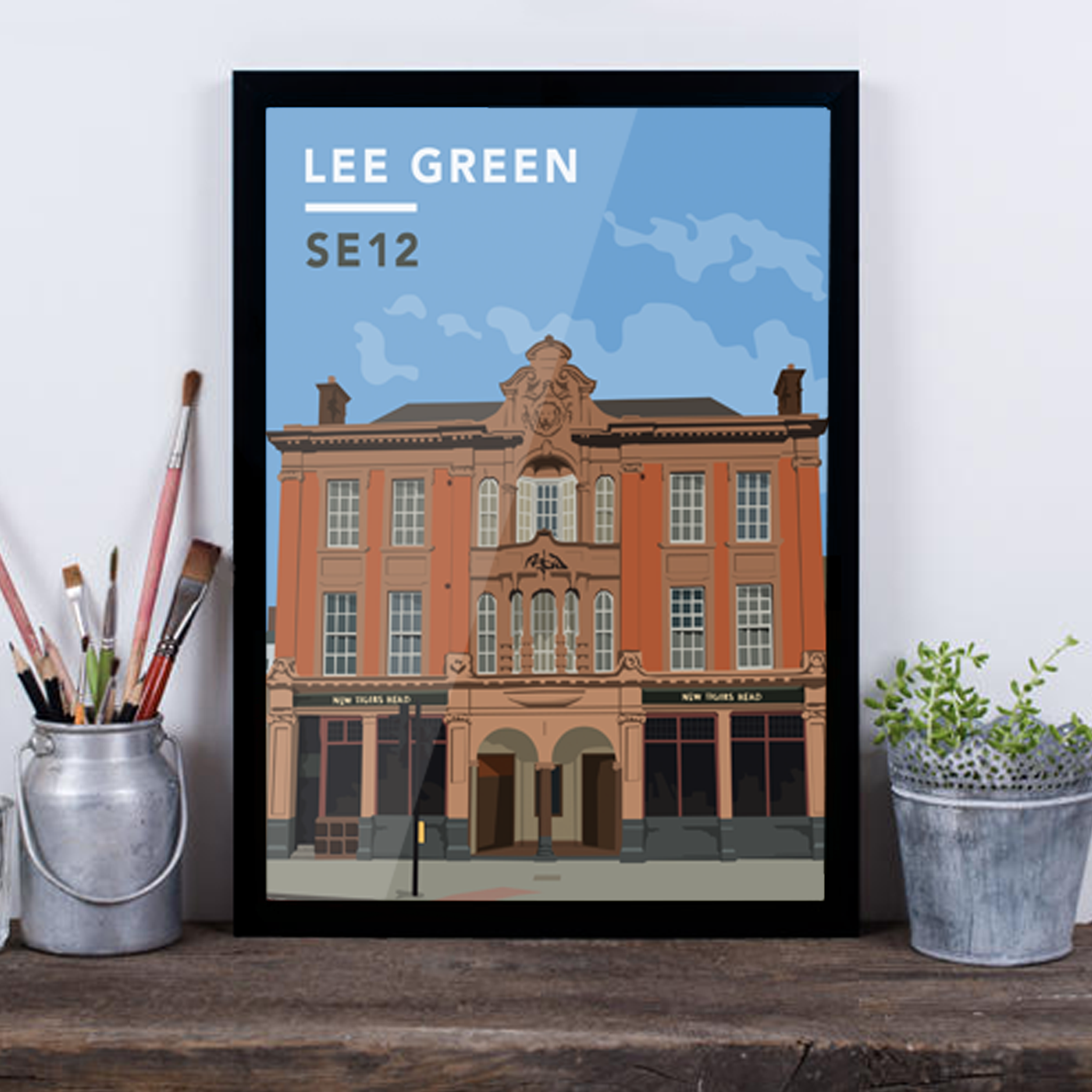 Lee Green/Old Tigers Head SE12 - Giclée Art Print -