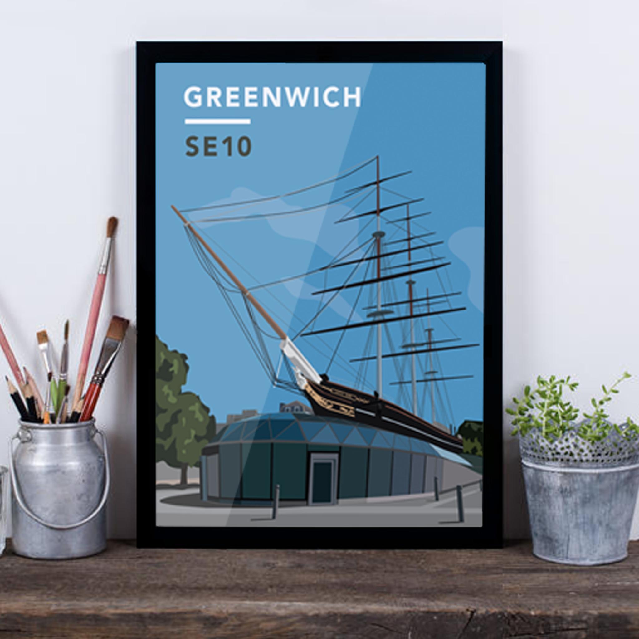 Greenwich Cutty Sark SE10 - Giclée Art Print -
