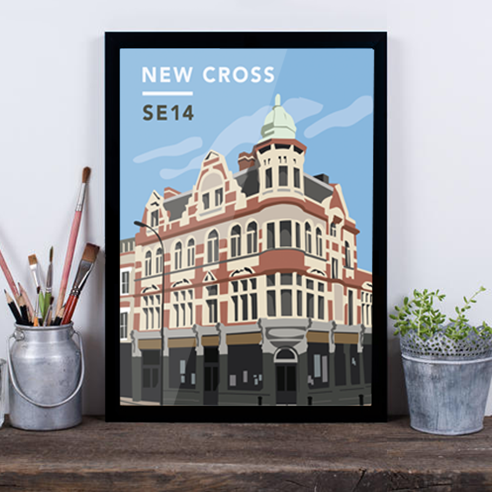 New Cross SE14 - Giclée Art Print -