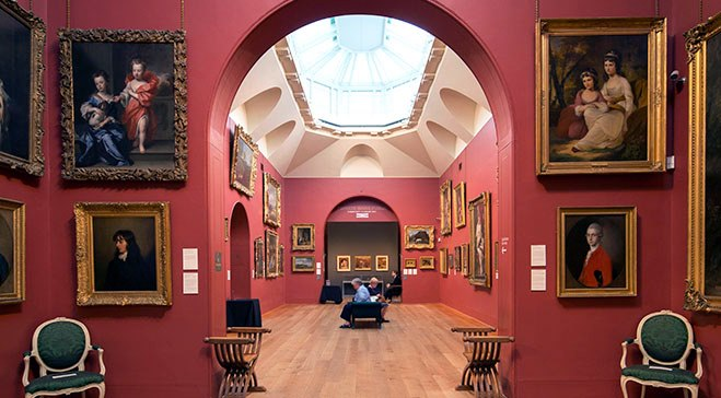 interior of gallery dulwich south london club