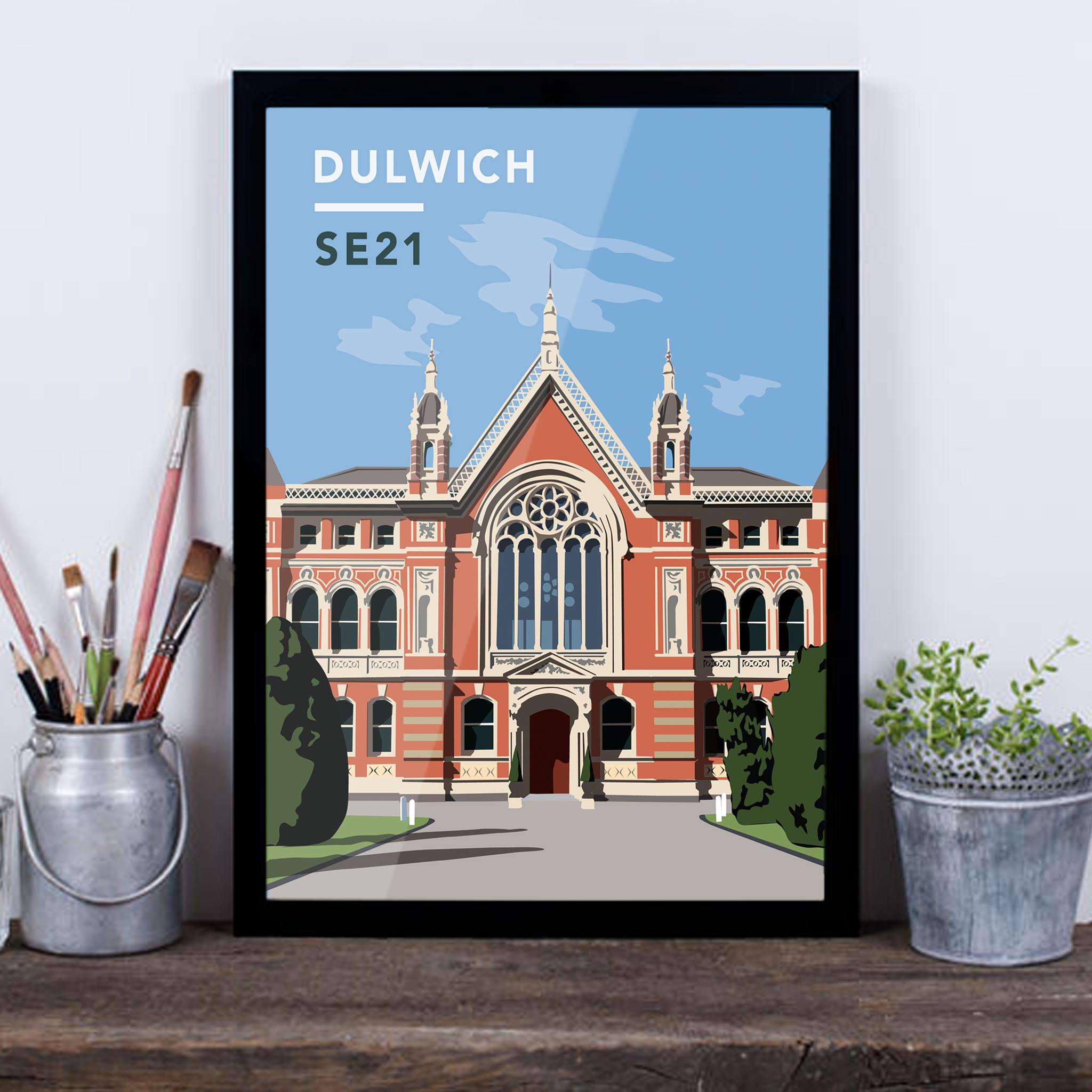 Dulwich College SE21 - Giclée Art Print -