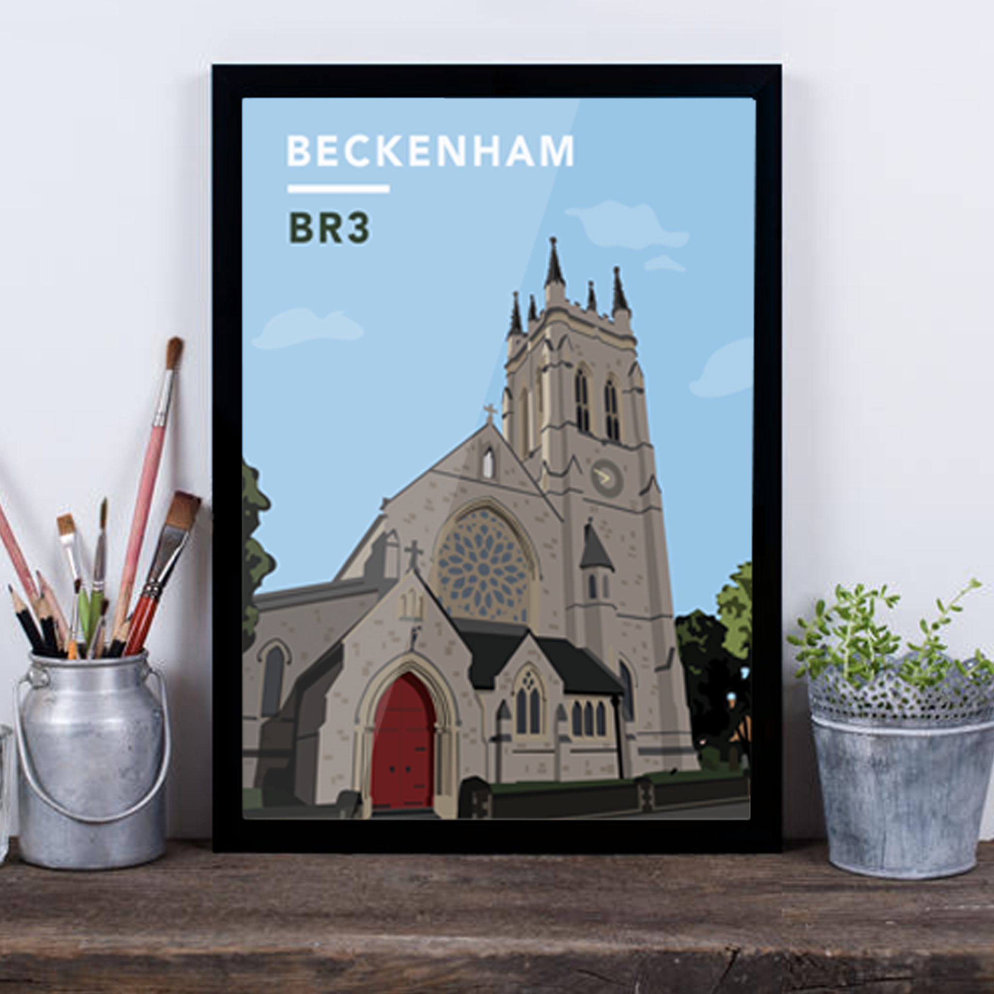 Beckenham St.George's Church BR3 - Giclée Art Print -