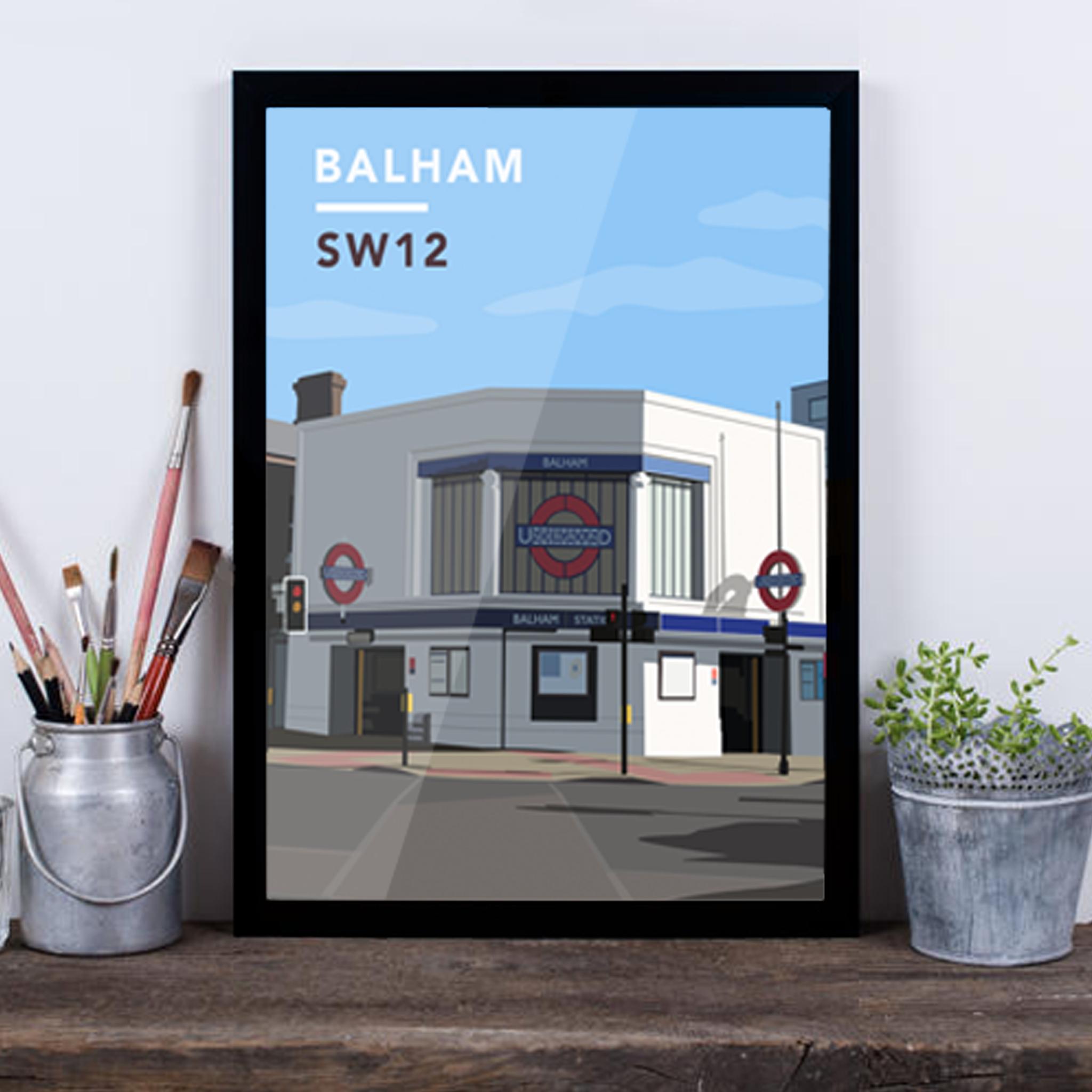 Balham Underground Station SW12 - Giclée Art Print -