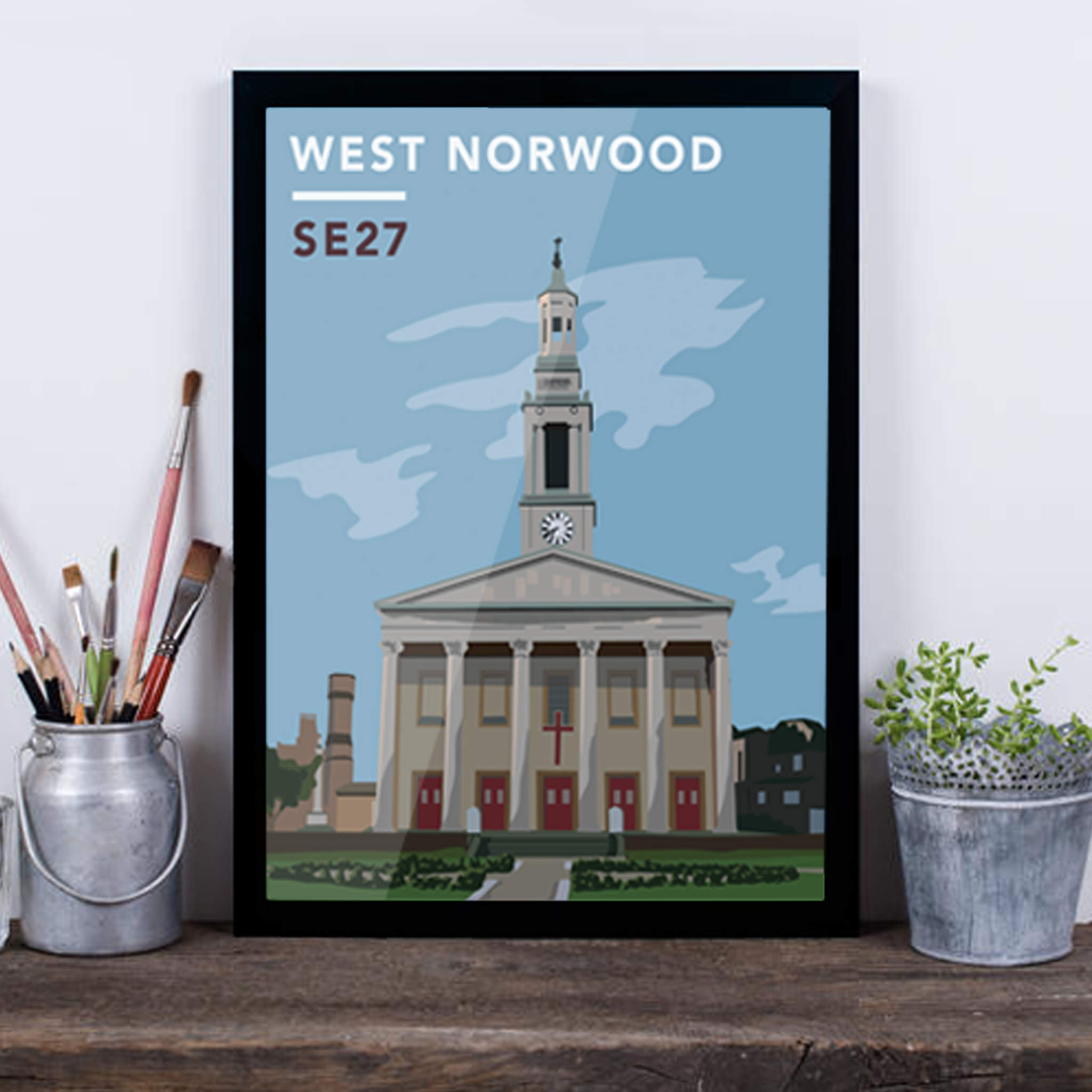 West Norwood St. Luke's Church SE27 - Giclée Art Print -