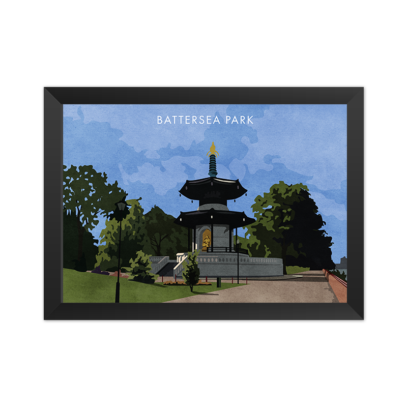 Battersea Park - Giclée Art Print -
