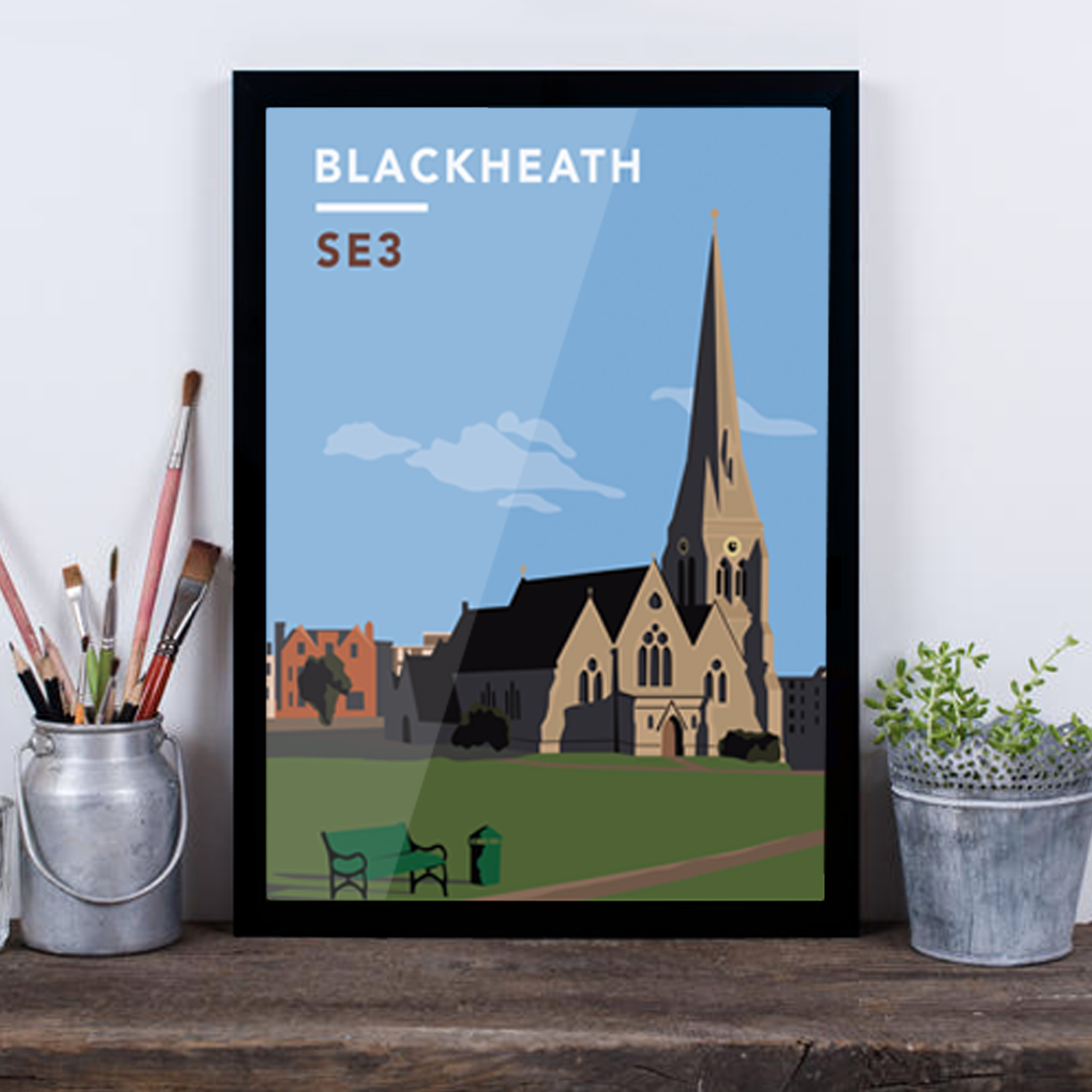 Blackheath All Saints Church SE3 - Giclée Art Print -