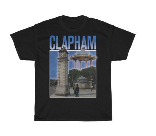 Clapham 90s Style Unisex T-Shirt -