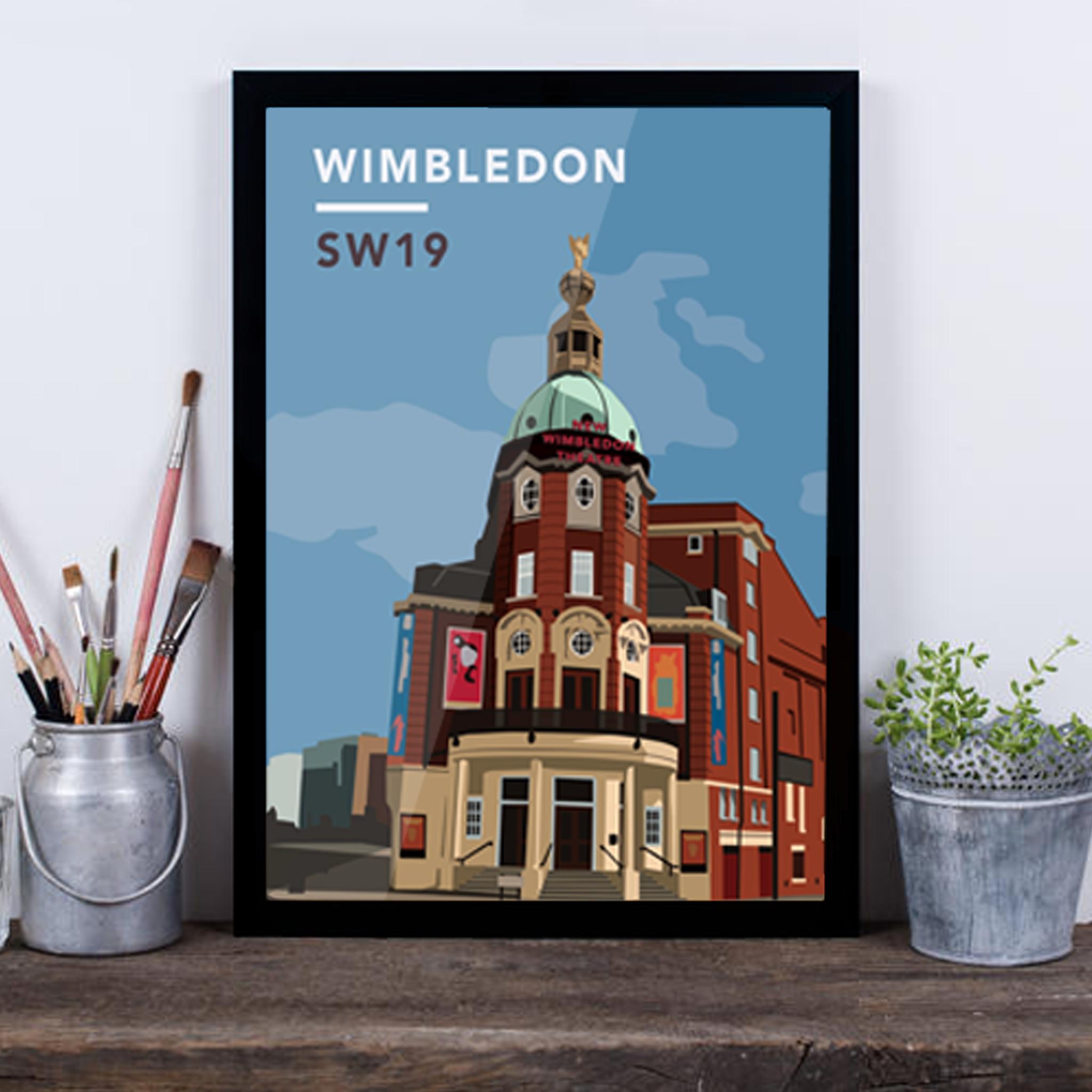 Wimbledon Theatre SW19 - Giclée Art Print -