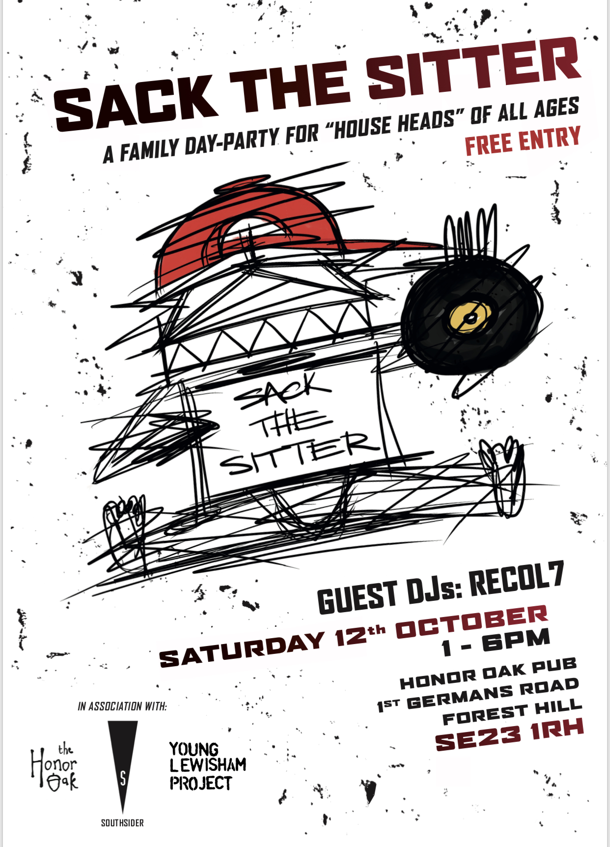 sack the sitter event south london club