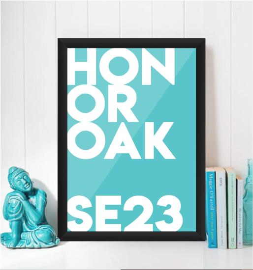 Honor Oak Typography Giclée Art Print -