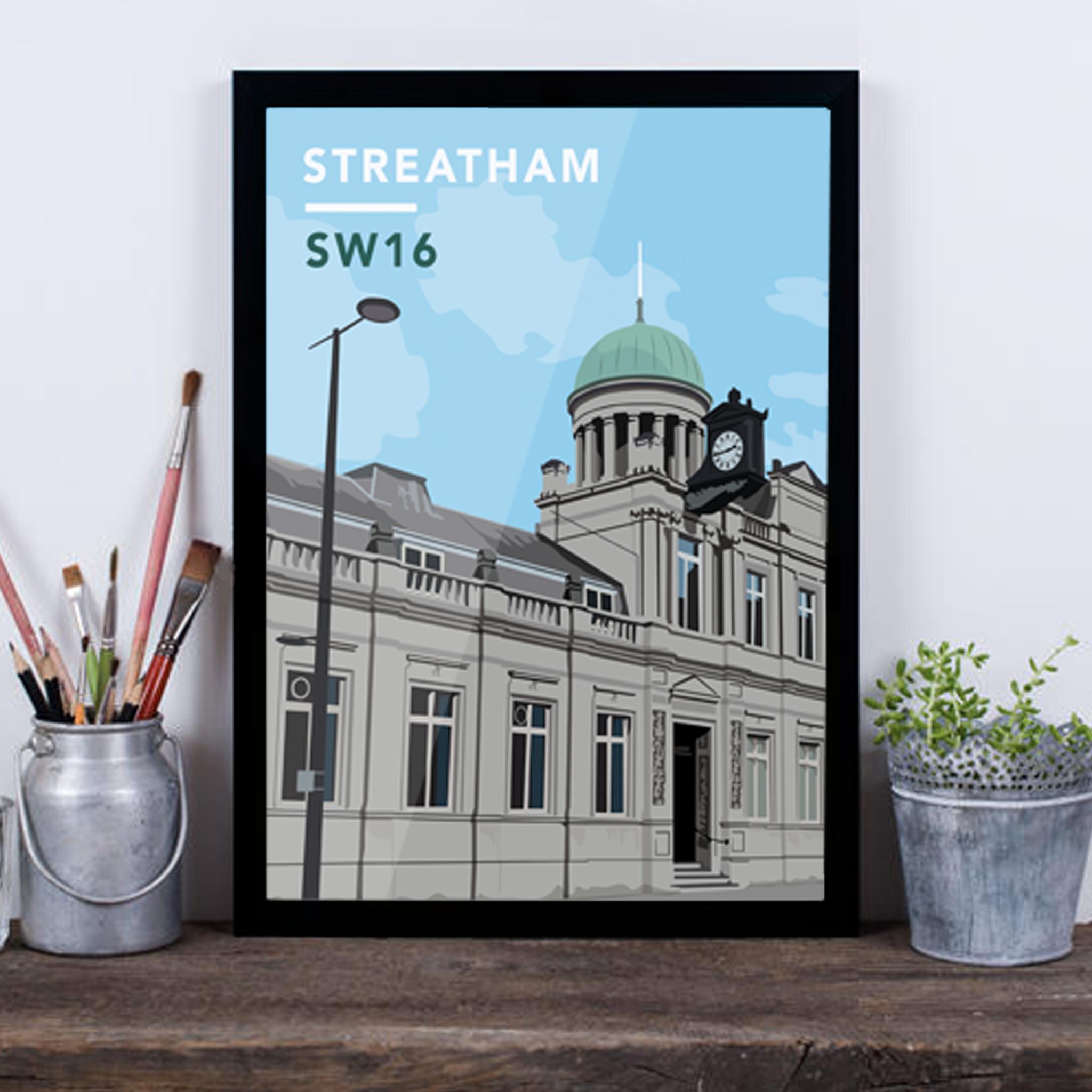 Streatham Library SW16 - Giclée Art Print -