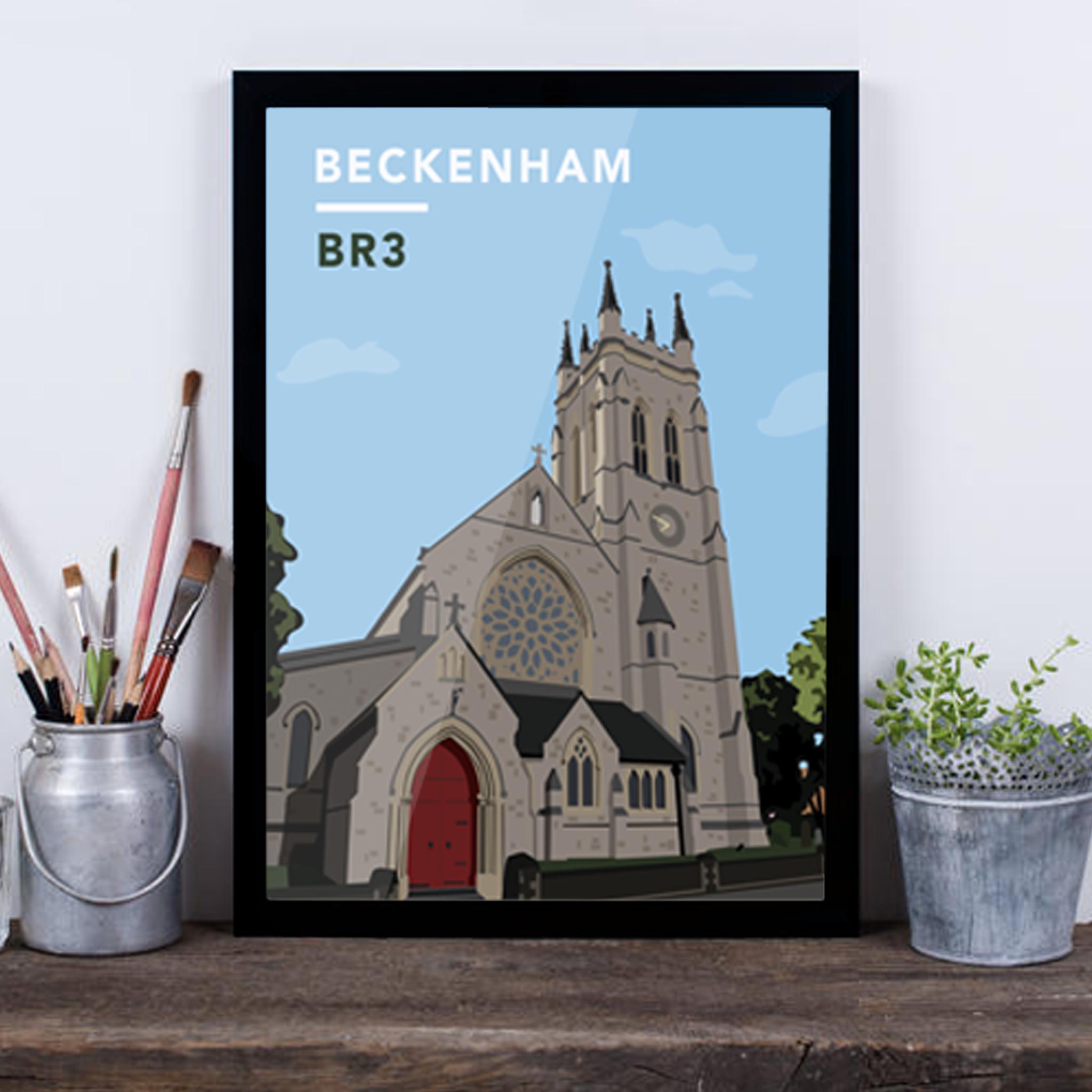 Beckenham St.George's Church BR3 - Giclée Art Print -