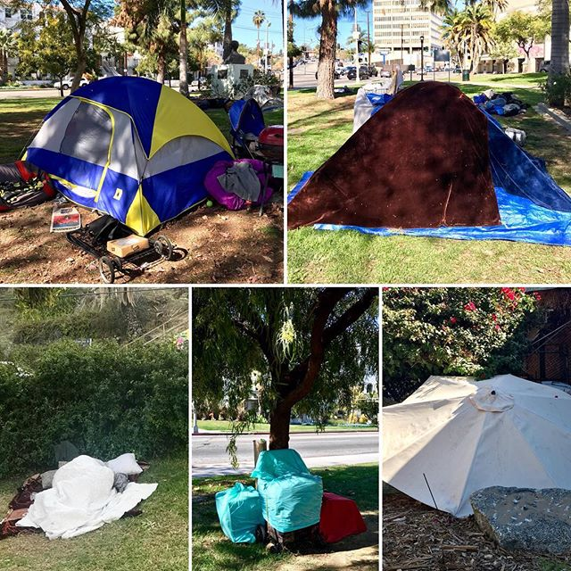 Homelessness at Echo Park Lake. It looks sunny but this is no way to live. #stophomelessness #endhomelessnessnow #echoparklake