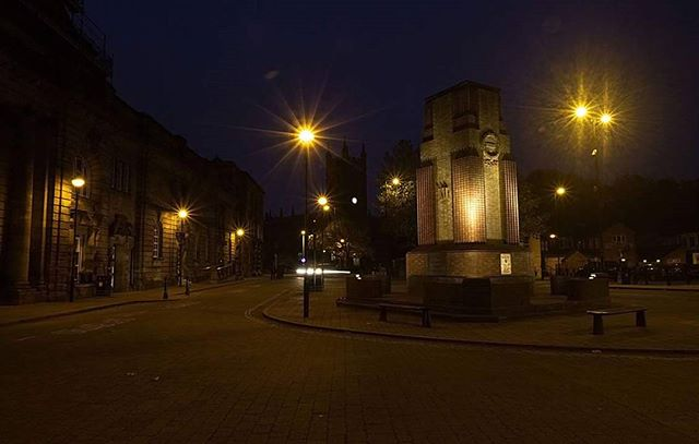 Twinkling street lights on the Twilight photowalk in Stoke town last week.  Great photo by David Hulme