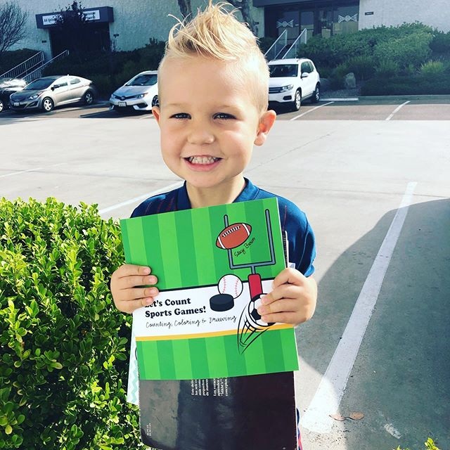 Excited to take his counting books to #preschool today! 😍⚽️👍🏻 #squirmywormybooks