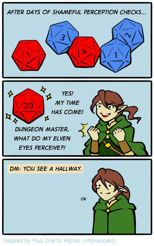 Hunter makes a perception check