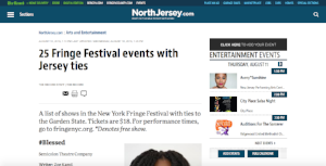 The Illusory Adventures of a Dreamer featured on Northjersey.com (August 10, 2016)