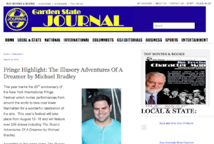 Interview with playwright Michael Bradley for Garden State Journal (August 2, 2016)