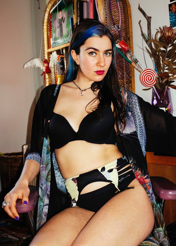 Styling by Fox Pflueger  Wearing JBC Lingerie and Goo Life  Photo credit Simon Russell