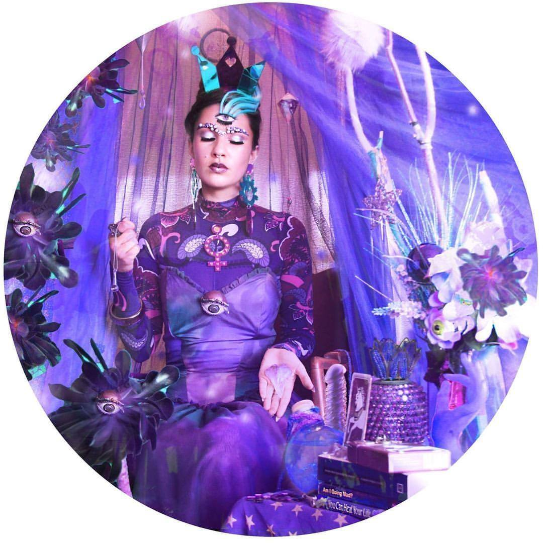 """For """"You Are Fortunate Tarot Deck""""  Styled by Fox Pflueger  Makeup by Helena Smith  Photo and editing by Sha Gaze"""