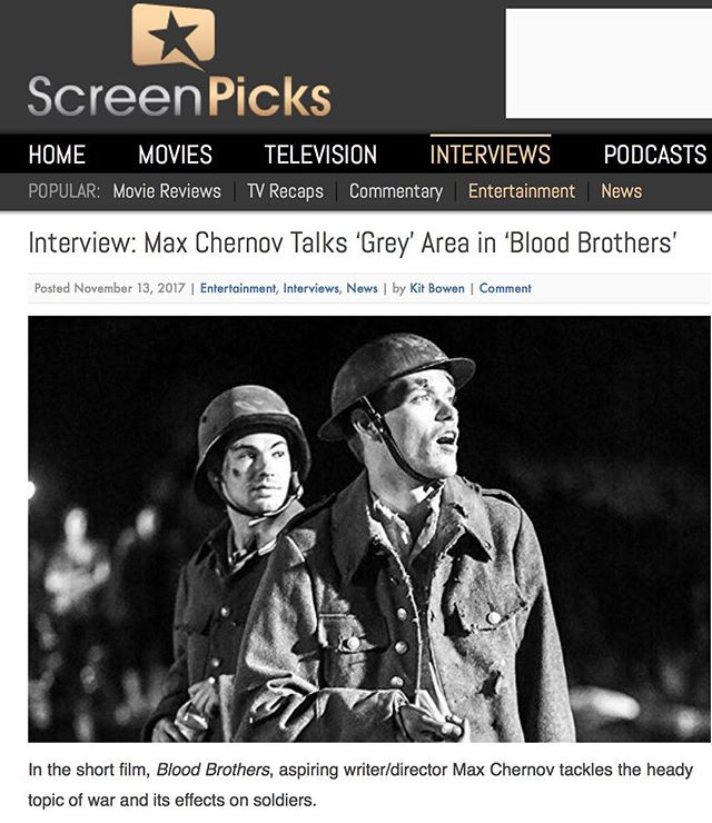 "Article link in bio: ""Director Max Chernov captures a very poignant moment in the life of a soldier and guides his cast into giving fine performances."" -ScreenPicks"