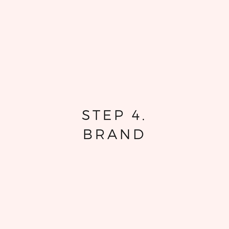 - You'll create a brand around your clientsYou'll plan name, logo, colors, imagesYou'll brainstorm copy + authenticity
