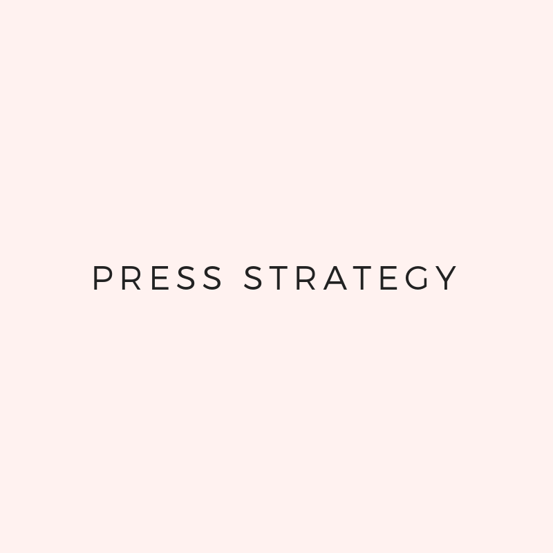 - You'll create a strategy for large pressYou'll create a strategy for sales pressYou'll find contact information for press + speaking sources
