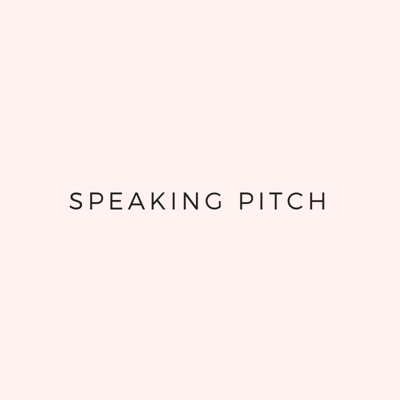 - We'll plan out your pitch scheduleWe'll write a speaking pitch