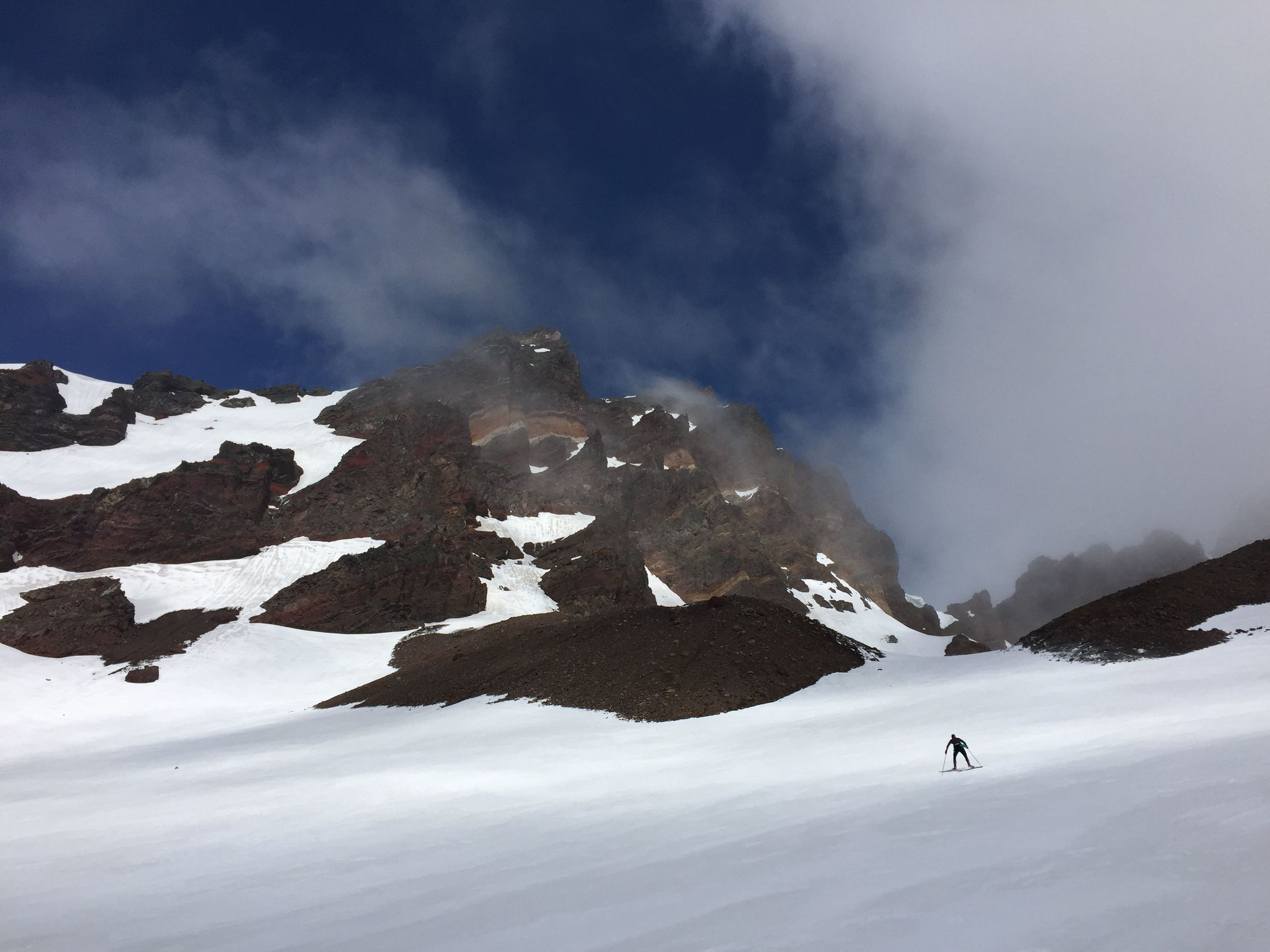 There is some pretty beautiful scenery around Mt. Bachelor! Pictured here, Rosie headed up the mountain.